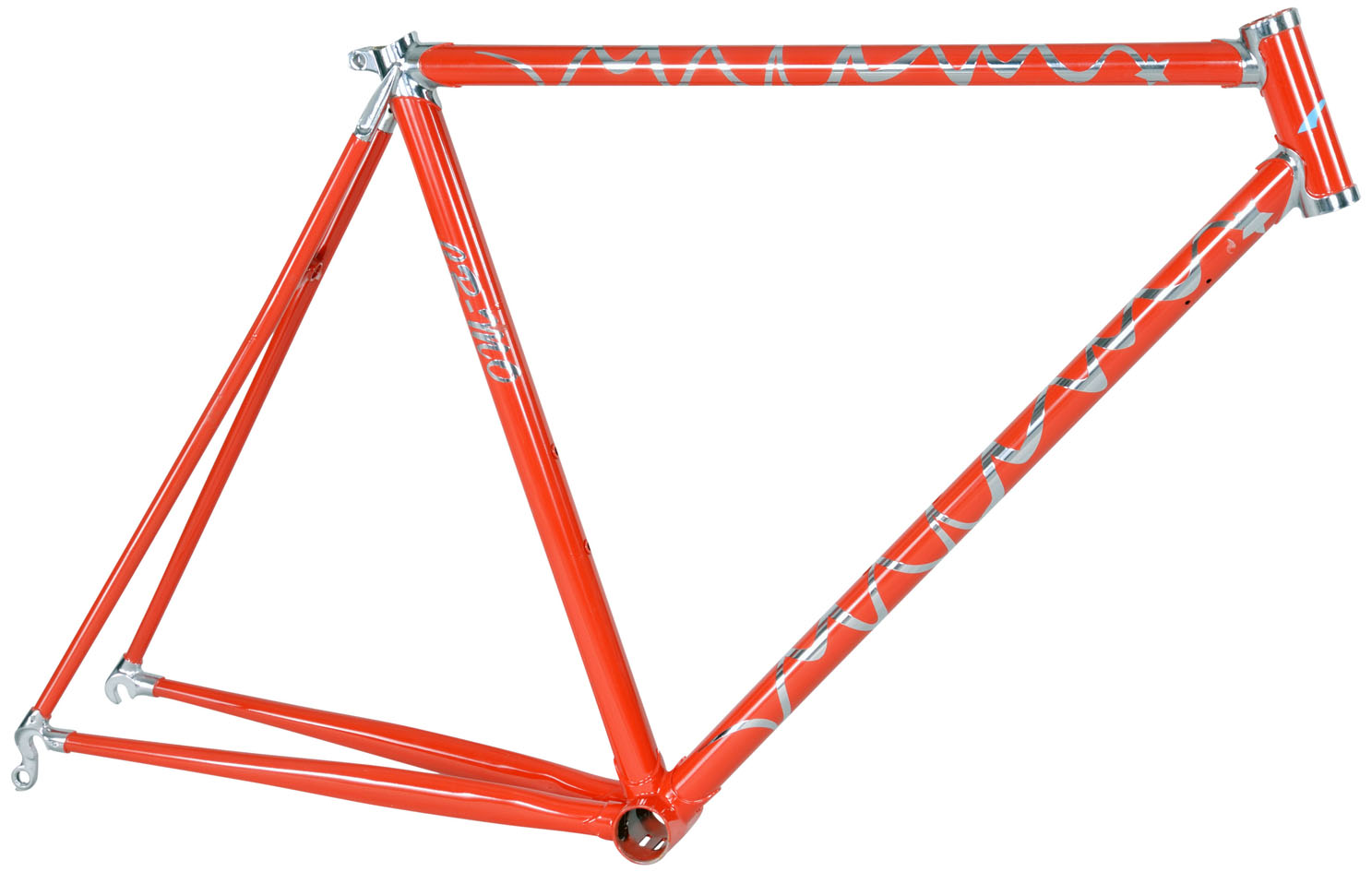 cr mo fixie chromoly road fixed gear bike frame