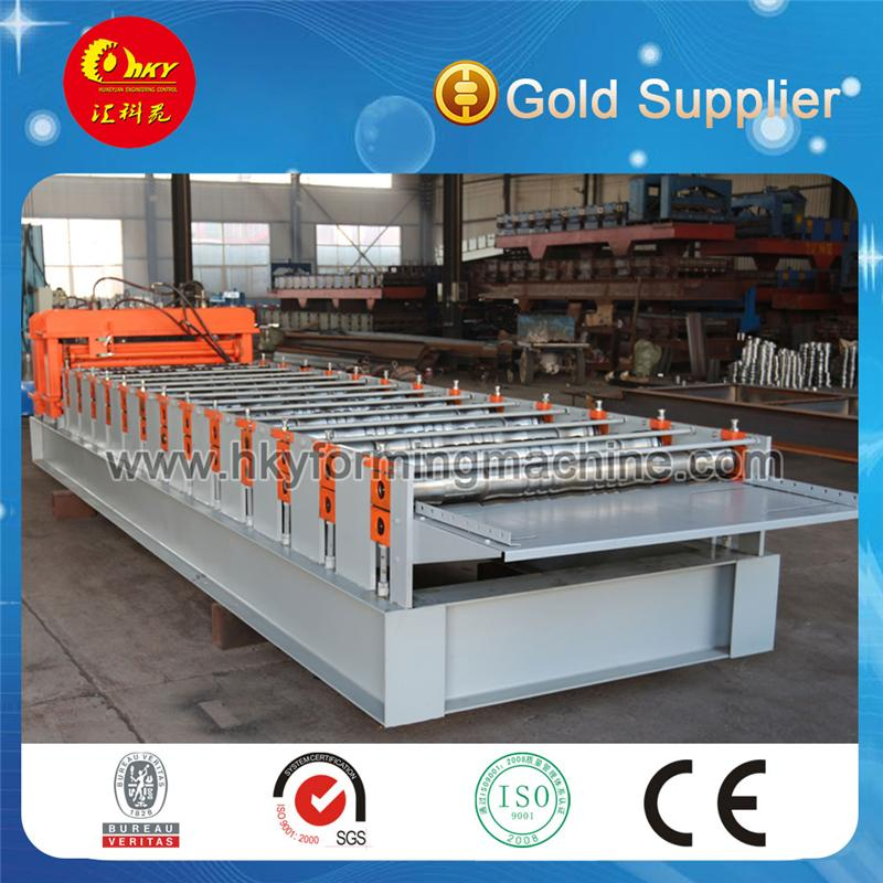 corrugated iron machine glazed tile and wave double metal sheet rolling