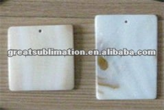 sublimation shell pendant