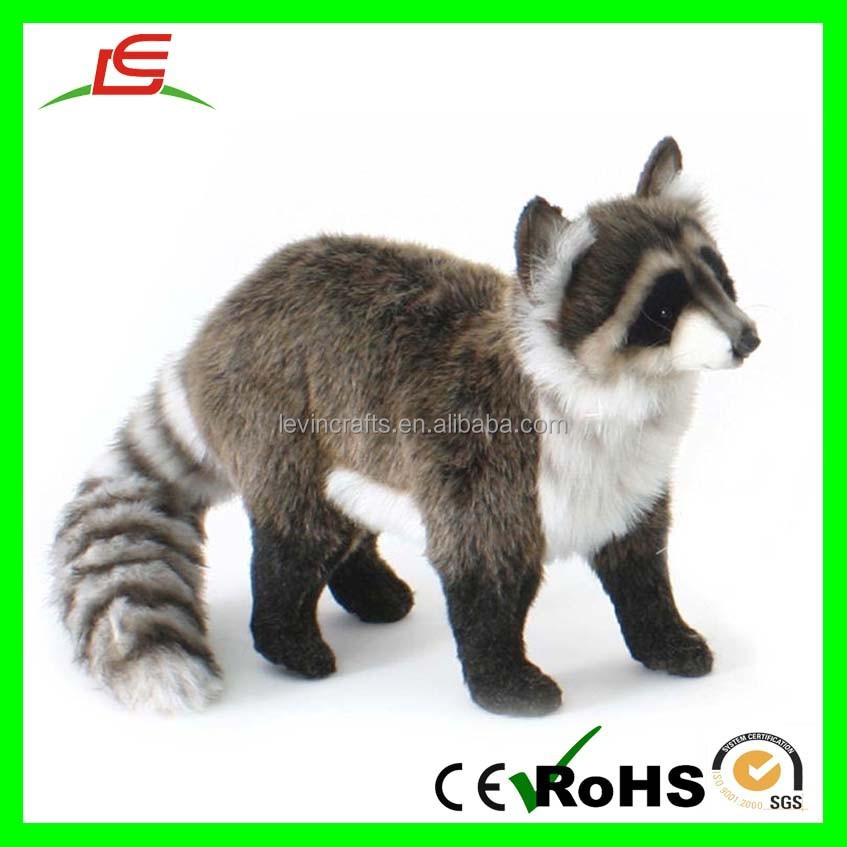 realistic fur fox lifelike wolf amp raccoon stuffed animal - 760×632