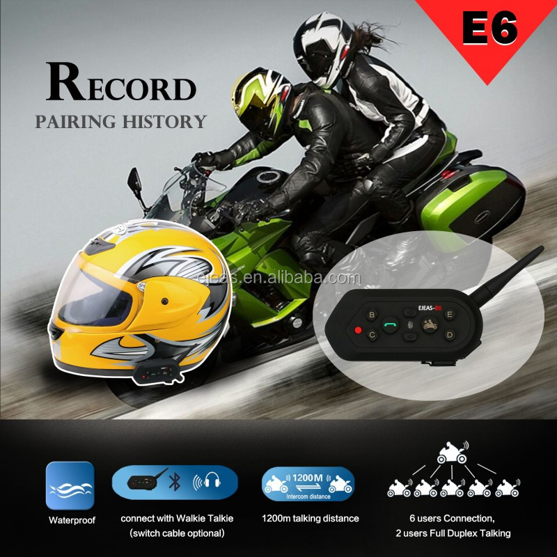 Chinese brand Ejeas E6 bluetooth handsfree helmet headsets for motorcycle