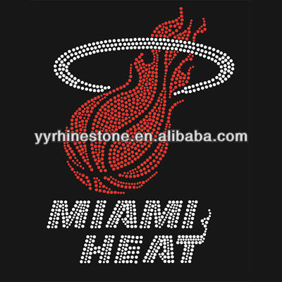 miami heat rhinestone transfers designs