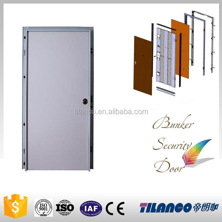 china factory main safety melamine flush wooden door