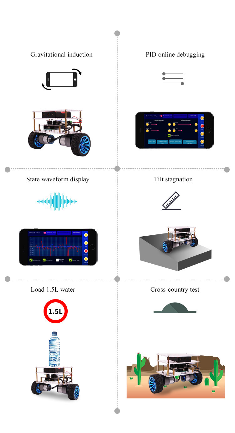 2018 new products RC two wheel self balancing robot car kit for Arduino uno R3 DIY educational programmable starter kit with APP