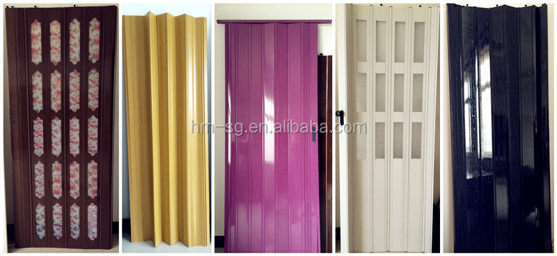 GLASS PVC FOLDING DOOR, PVC SLDING DOOR PRICE FOR INTERIOR, BATHROOM Part 37