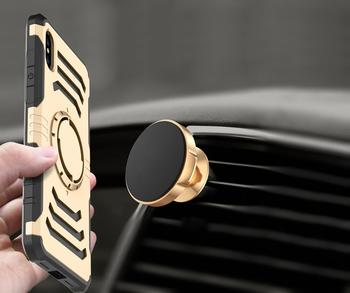 For iPhone 6 6S 7 8 Plus XR XS MAX Case Luxury Hybrid Shockproof Rubber Defender Car Mount MagneticStand Case For iPhone X