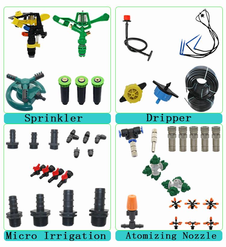 Conector Y de manguera de 4/7 o 8/11mm, rosca externa de 3/4 pulgadas, conector rápido, riego automático, temporizador digital