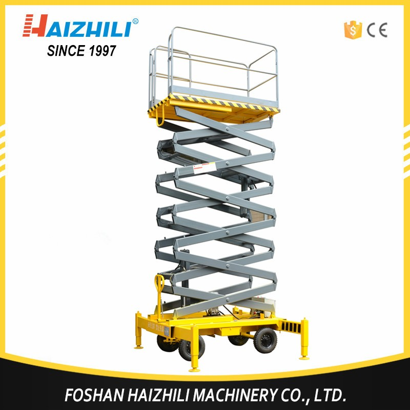 Alibaba easy operation mobile scissor lift , 2017 new design automotive scissor lifts,battery charge scissor lift price
