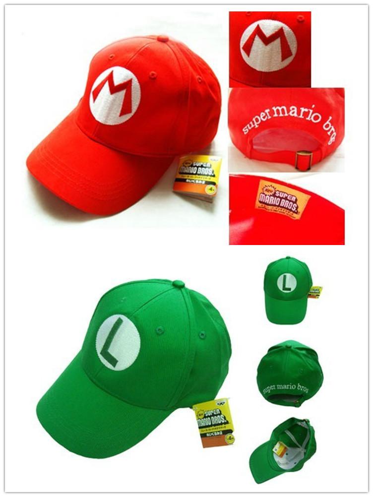 Get Quotations · free shipping 2 colors new design 2014 boy girl Super  Marie Luigi Mario Sun Hats Baseball 7d90474e343d