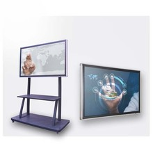 "Large size 47"" 55"" 65"" 70"" 75'' 84"" LED LCD USB multi touch screen monitor for schools and company use"