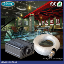 Interior design restaurant decoration with safe and beautiful fiber optic lighting kit