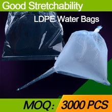 China manufacturer LDPE good stretchability and sealing performance flat water bags