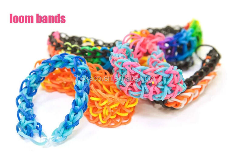 Diy Fashion Design Elastic Bands Wholesale Loom Rainbow Rubber ...