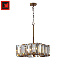 6-light Royal Cut Crystal and American Gold crystal Chandelier for Sale Home decor Fixture