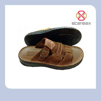 Hot Selling Latest Fashion Thick Sole Arabic Leather Sandal Men