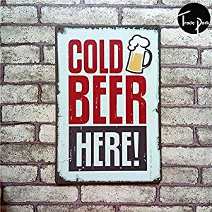 Yours Dec Metal Tin Sign MOUSE POSTER STAR Cold Beer Here beer Vintage Metal Painting tin sign Bar pub home Wall Decor Retro Mural Poster Home Decor Craft