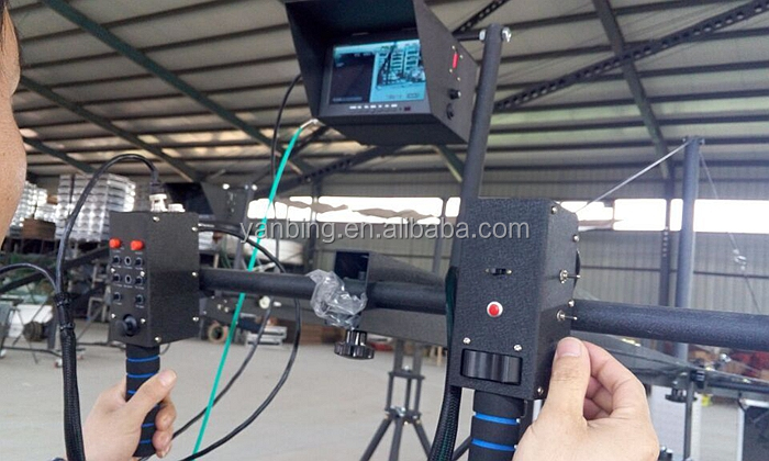 Photographic equipment photo shooting 10m jimmy jib camera crane with 2-axis motorized head