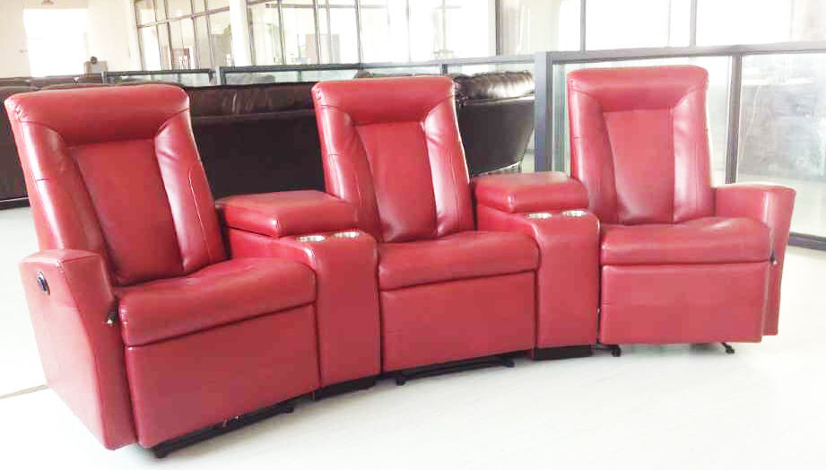 Luxury Home Theater Chair,Recliner Leather Sofa Home Cinema Seats ...