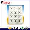 K6 stainless steel elevator keypad 12 keys metal button telephone silicon keypad