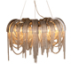 Vintage Decorative Metal Gold Chain Round Hanging Chandelier Modern