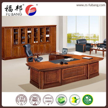 High Tech Office Fancy Classic Executive Office Table With Movable Cabinet