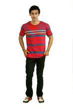 Men t shirt made of 100% cotton, round neck men t shirt in promotion, 100% percent cotton t shirts