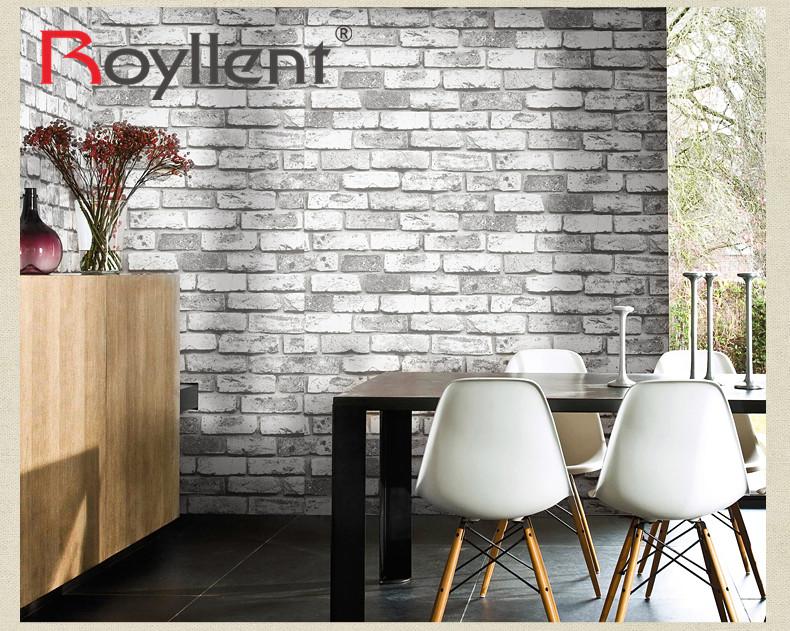 Pvc de vinilo papel pintado de ladrillo blanco para la barra casera decoraci n de la pared 3d - Pared de ladrillo blanco ...