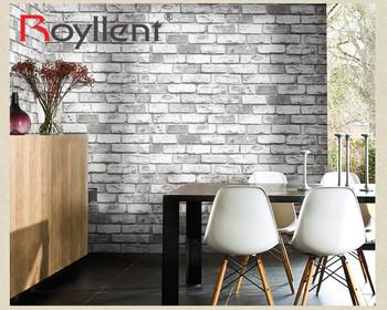 Pvc Vinyle Brique Papier Peint Blanc Pour La Maison Bar Decoration