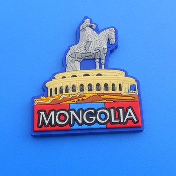 Mongolia Genghis Khan Building Symbol Pvc Fridge Magnet Sticker