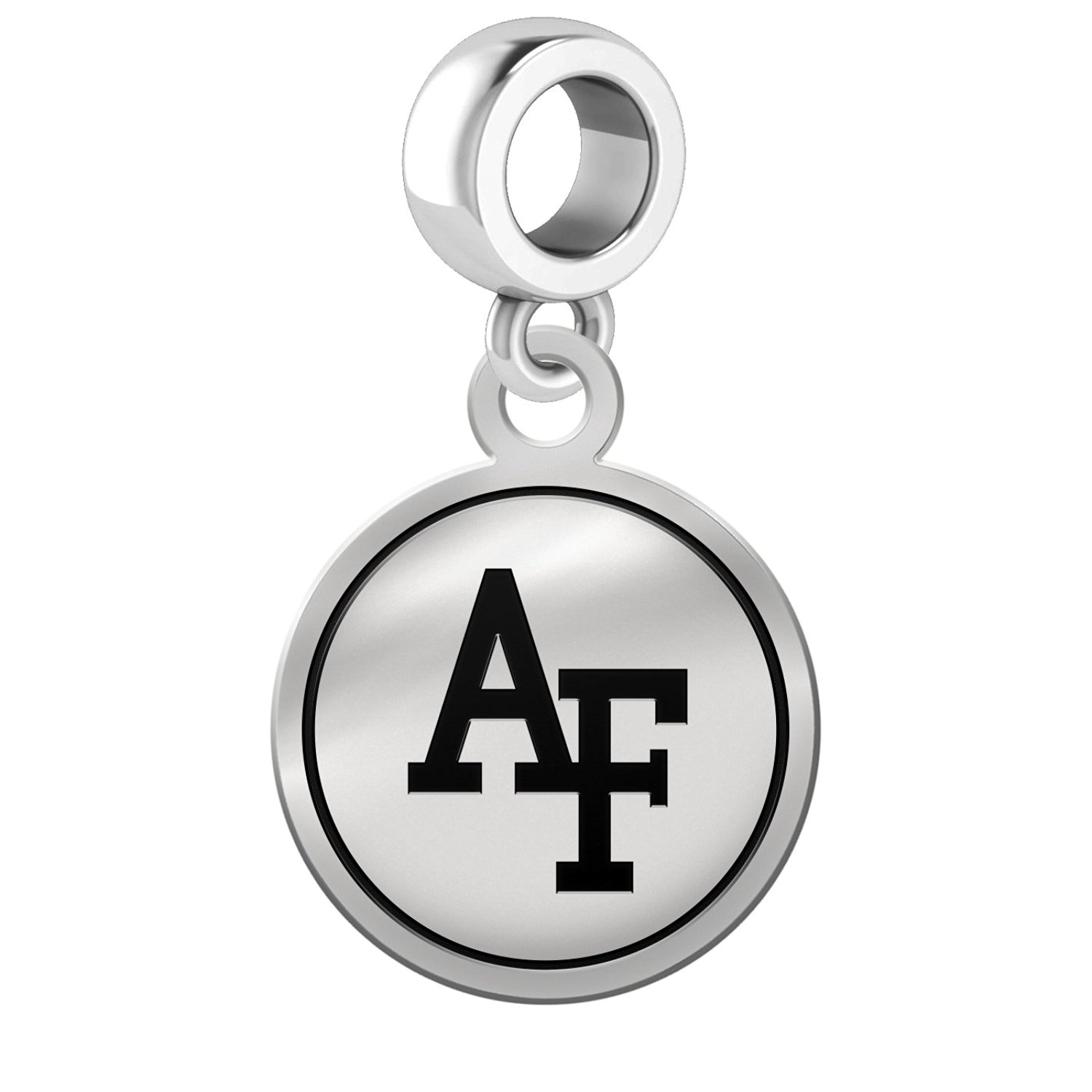 Air Force Academy Falcons Border Round Dangle Charm