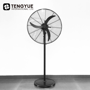 Strong Wind 26 Inch Industrial Fan Metal 26 Inch Industrial Stand Fan Iron Base 30 Inch Industrial Fan Power Consumption