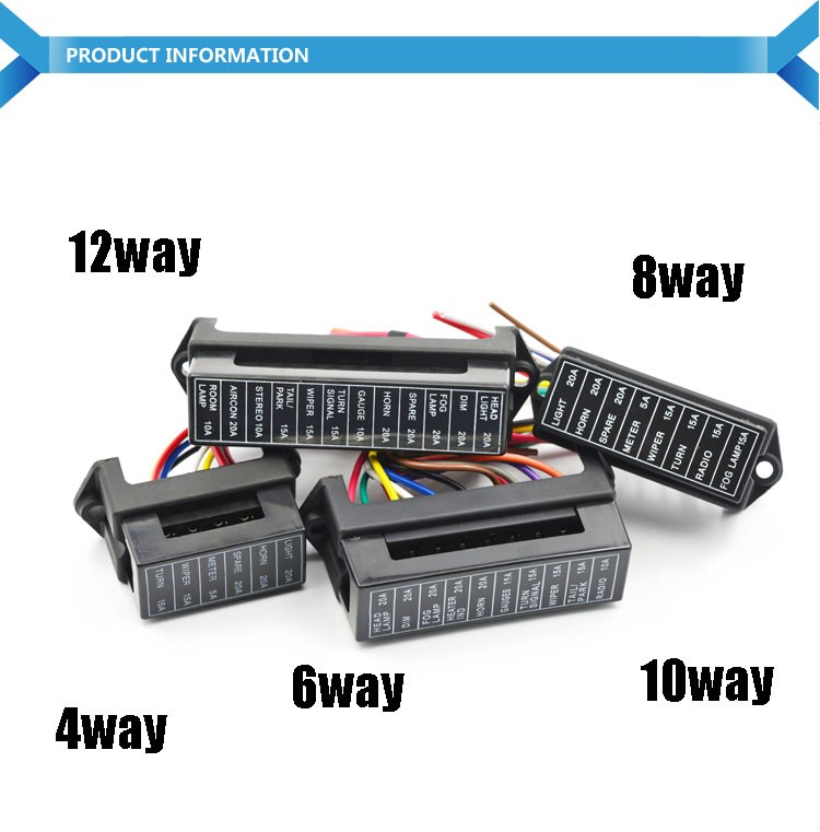 HTB1kkAeLFXXXXbIXpXXq6xXFXXXB 6 way standard blade fuse box holder 12v car fuse relay box buy 4 way fuse box at crackthecode.co