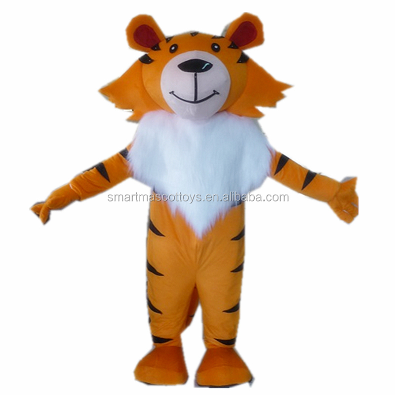 Factory direct sale tiger costume plush tiger mascot costume for adults