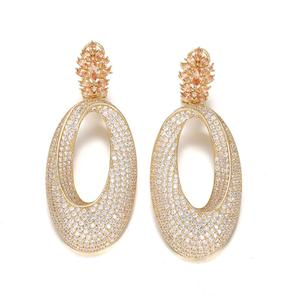 Gold Color CZ Earring Fashion Jewellery Bridal Earring for Party