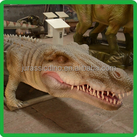 waterproof material remote control crocodile,theme park attraction