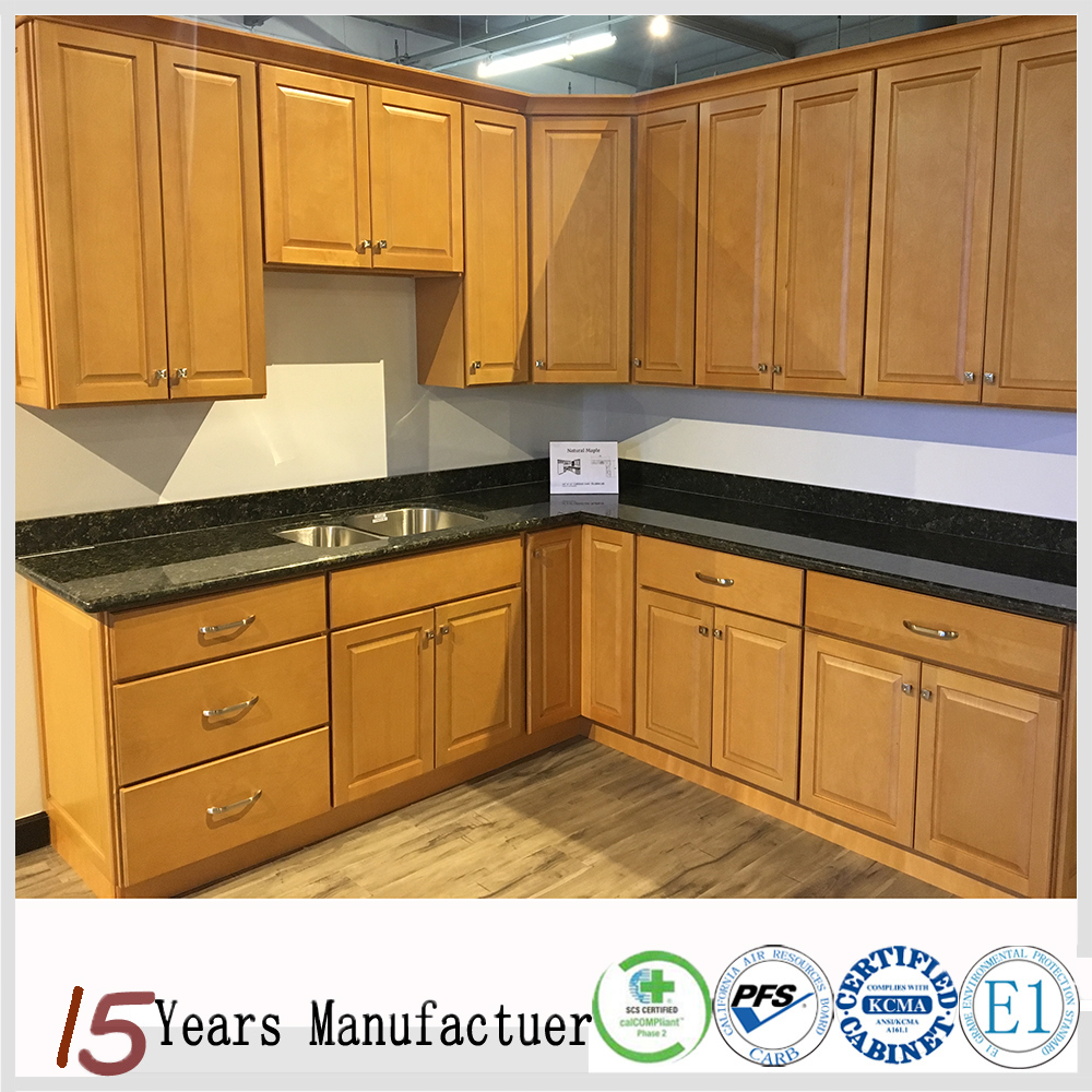 American Classic Nature Maple Sample Kitchen Cabinets For Sale
