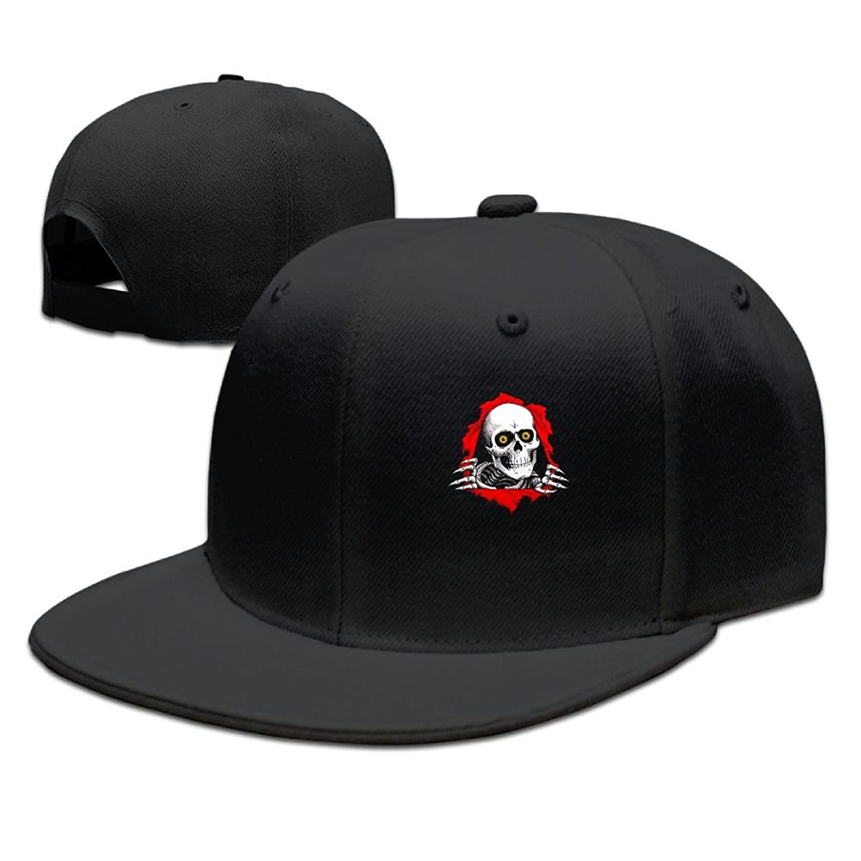 63057e79b79 Get Quotations · Ghmkz Skull-Skull Skate Logo Adjustable Caps Classic Snapback  Hat