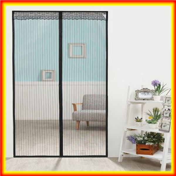 Instant Moveable Screen Patio Polyester Mosquito Magnetic Magnet Mesh Door  Curtain