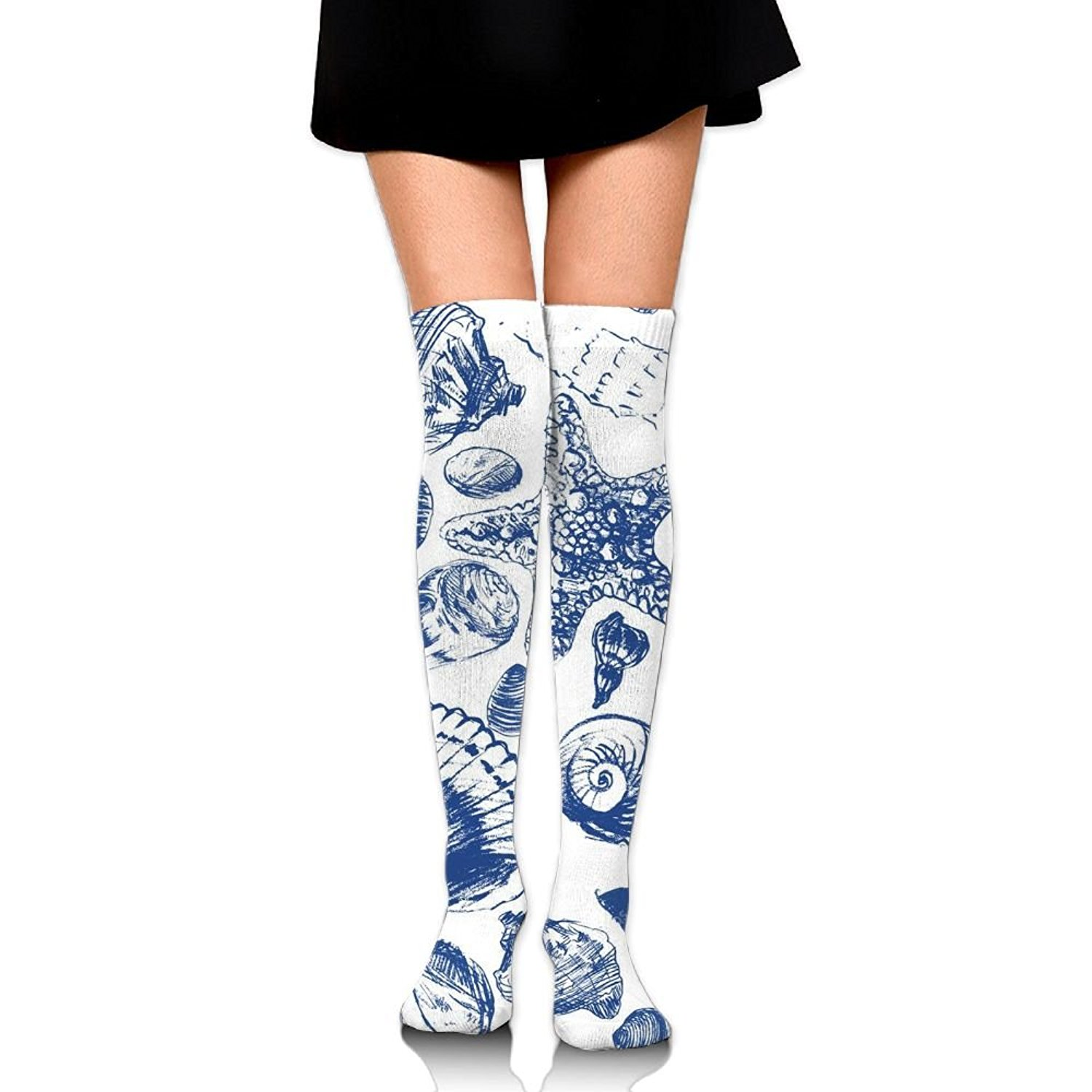Zaqxsw Shell Women Unique Thigh High Socks Thermal Socks For Girls