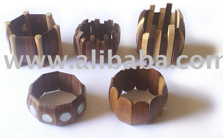Elastic Sono Wood Bangle