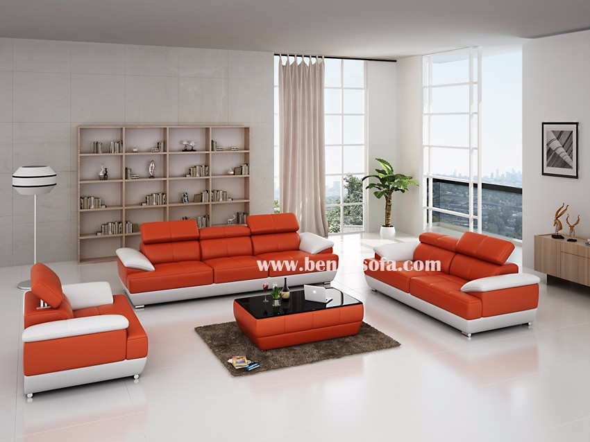 Brick Red Leather Sofa Set Buy Cheap Leather Sofa Set Simple