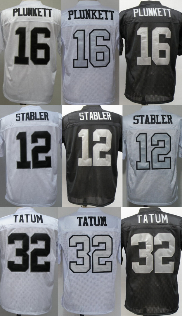 2a1347bd2 men s Authentic  12 Ken Stabler  32 Jack Tatum 16 Jim Plunkett jersey  Football Jersey