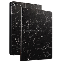 Color Printing Folio Stand PU Leather Case for iPad, Smart Flip Cover Case for iPad2 3 4 (Star Lines)