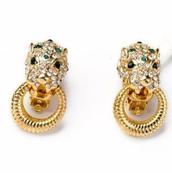 High Quality Leopard Earrings Modern Earring No Piercing Gold