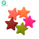 Star Shaped Food Grade BPA Free Soft Baby Chew Teething Silicone Beads