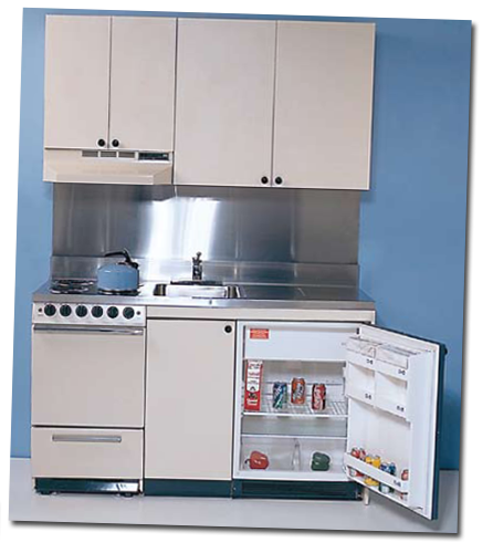 Hotel Project Small Mini Kitchen Cabinet Kitchenette
