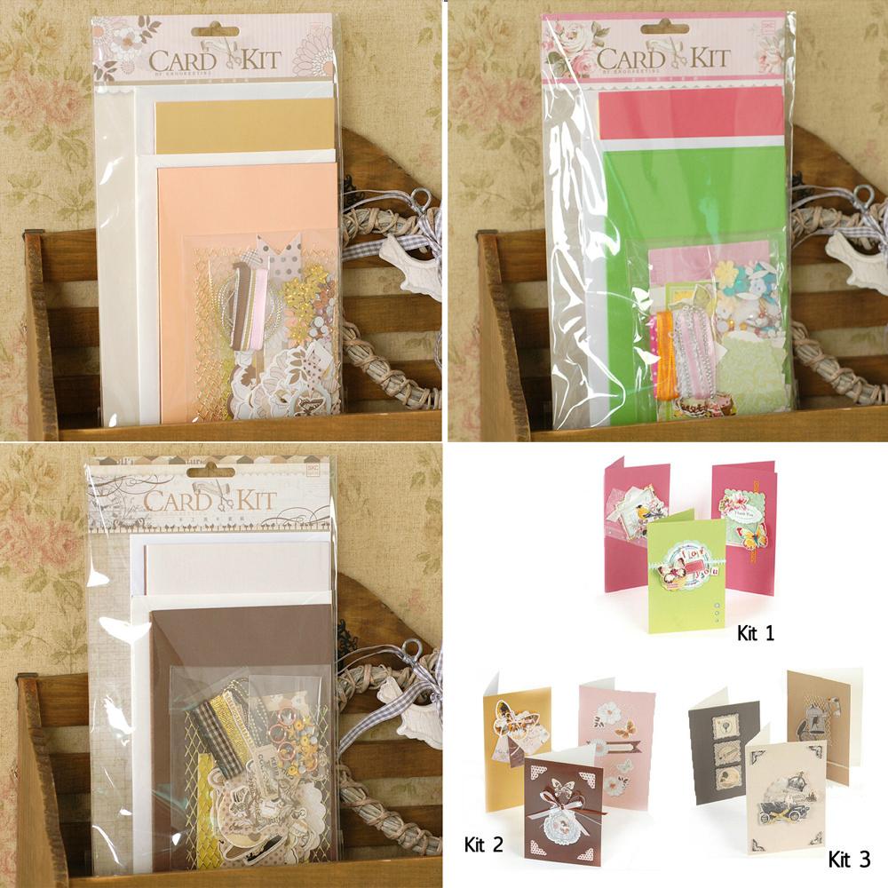 6 cardsenvelopescreative diy simple card kit greeting