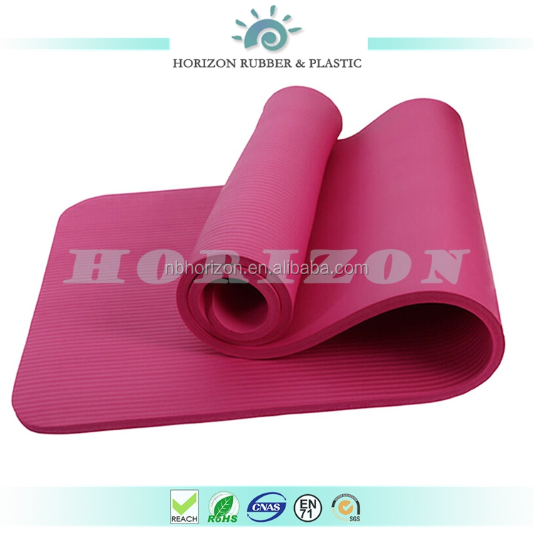 Natural rubber mat NBR foam yoga mat children used thicker fitness mat for bodybuilding