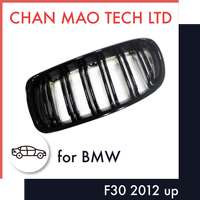ABS Black Front Grilles Auto Mobile Spare Parts For BMW F30 2012