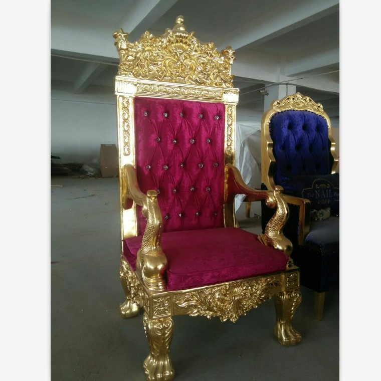 Remarkable Golden Wood King Throne Chair Red Velvet Cheap King Throne Chair Buy Cheap King Throne Chair Gold Throne Chairs Antique Reproduction Wood Throne Beutiful Home Inspiration Ommitmahrainfo